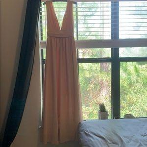 Lulus bridesmaid dress blush pink